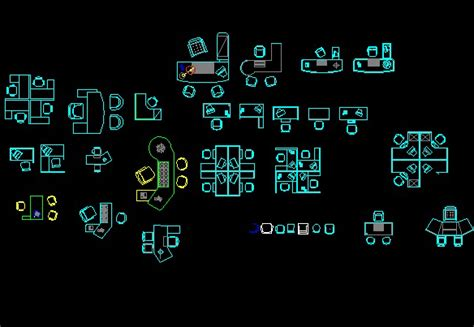 Floor Plan Dwg by Cad Floor Plan Office Tables Autocad Blocks Crazy 3ds