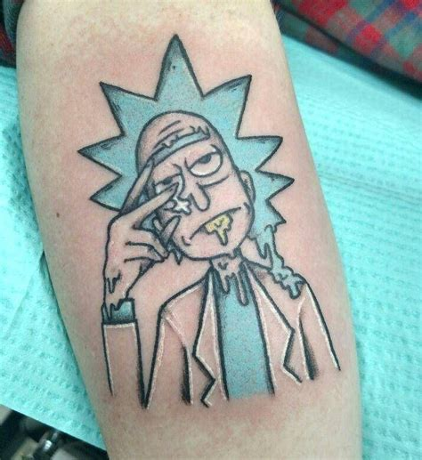 rick and morty tattoo 28 awesome rick and morty tattoos from every corner of the