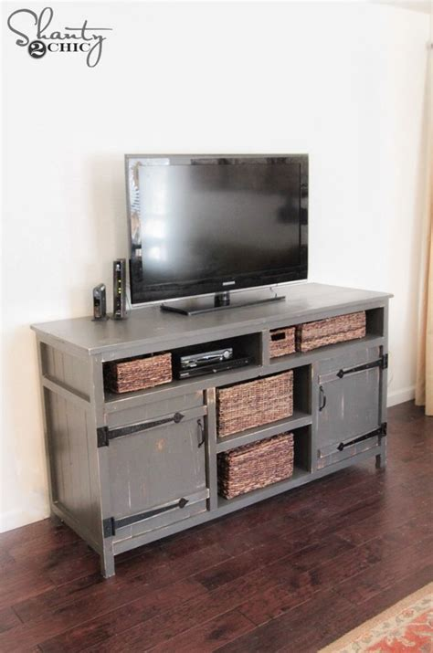 diy media console  plans woodworking furniture