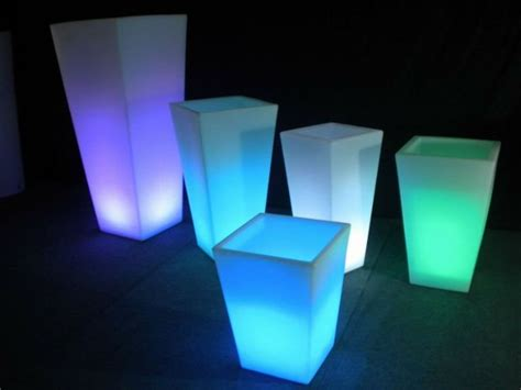 Light Up Planters by Light Up Square Plastic Pots Buy Light Up Square Plastic
