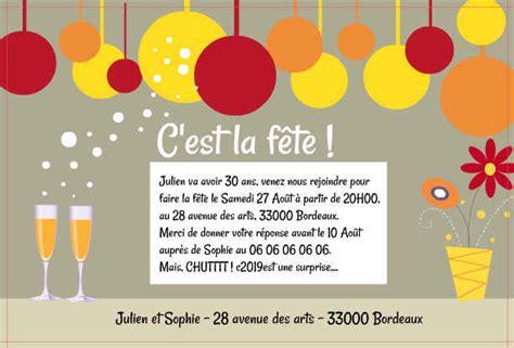 Exemple De Lettre D Invitation Humoristique Modele Invitation Humoristique Anniversaire Document