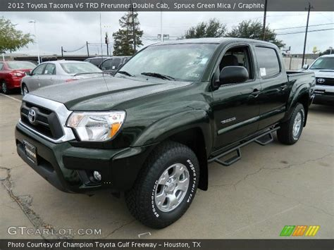 Toyota Tacoma Spruce Mica Spruce Green Mica 2012 Toyota Tacoma V6 Trd Prerunner