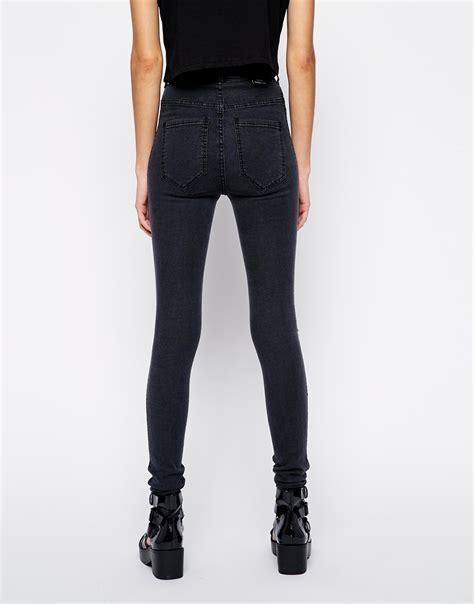 Zhoey Black High dr denim solitaire high waist in black