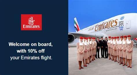 emirates promotion 2017 emirates promo code 10 off all ex uk flights
