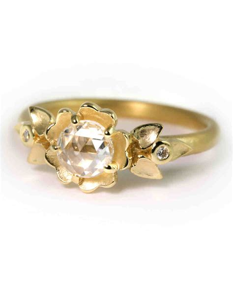Wedding Rings Yellow by Yellow Gold Engagement Rings Martha Stewart Weddings