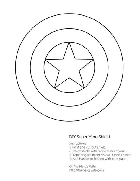 captain america shield template diy captain america shield free printable the nerds