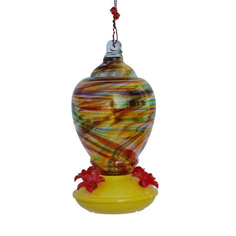shop garden treasures glass hummingbird feeder at lowes com