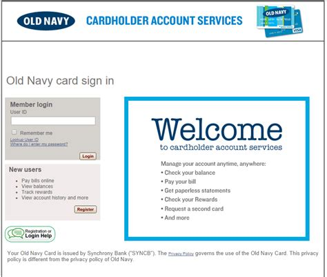 Old Navy Online Gift Card - eservice oldnavy com pay your old navy bill online mycheckweb com