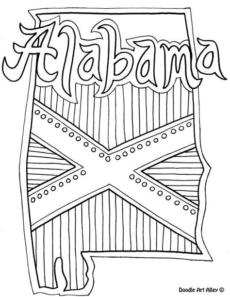 doodle alabama alabama state symbols coloring pages coloring home