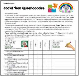 child friendly questionnaire template questionnaires