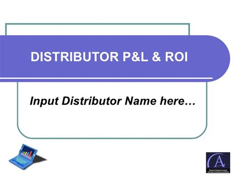 Distributor Pl Roi Presentation Template P L Presentation Template