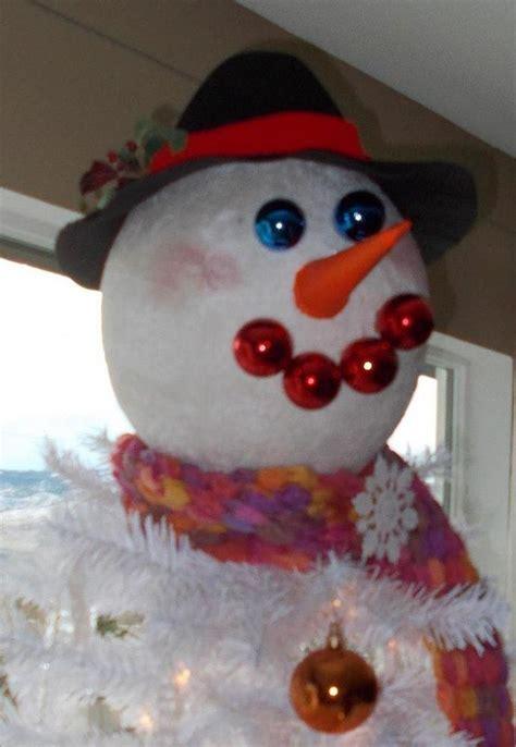 diy snowman christmas tree topper