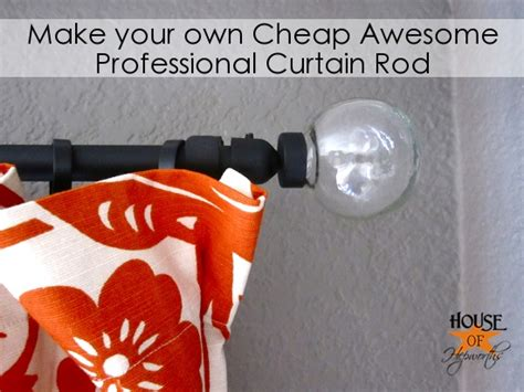 make your own curtain rod finials remodelaholic 25 creative diy curtain rod tutorials