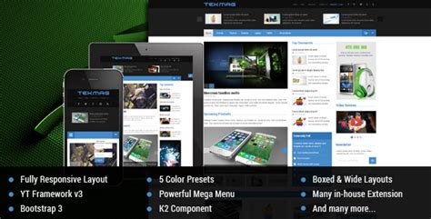tekmag technology news magazine joomla template 3 x free