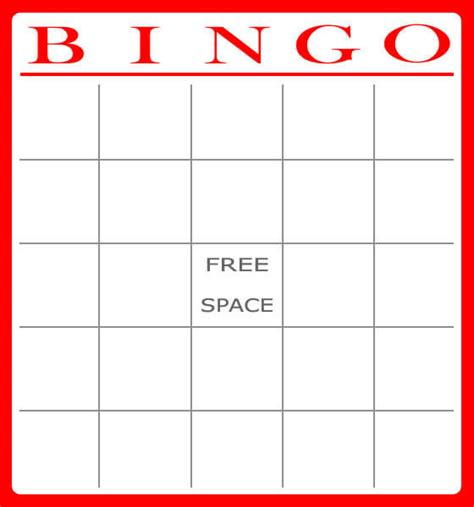 blank bingo card template excel free and printable baby shower bingo card baby shower ideas