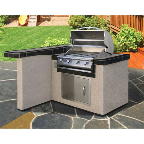 outdoor kitchens and barbecue islands in fort collins cal flame 4 ft bbq island l shaped lbk401 betterpatio com