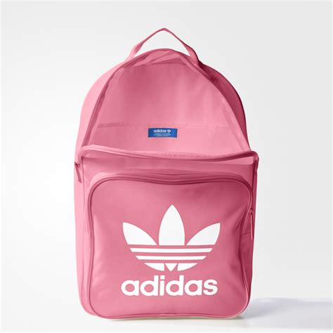 adidas classic trefoil backpack light pink adidas originals classic trefoil backpack backpacks