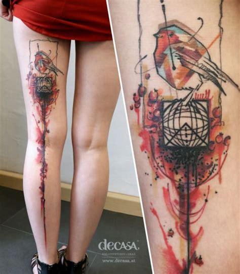 watercolor tattoo graz carola decasa kreativstudio tattoos