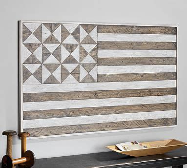 hermosa planked flag wall pottery barn