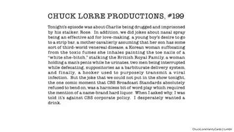 Chuck Lorre Productions Vanity Cards by Chuck Lorre Productions