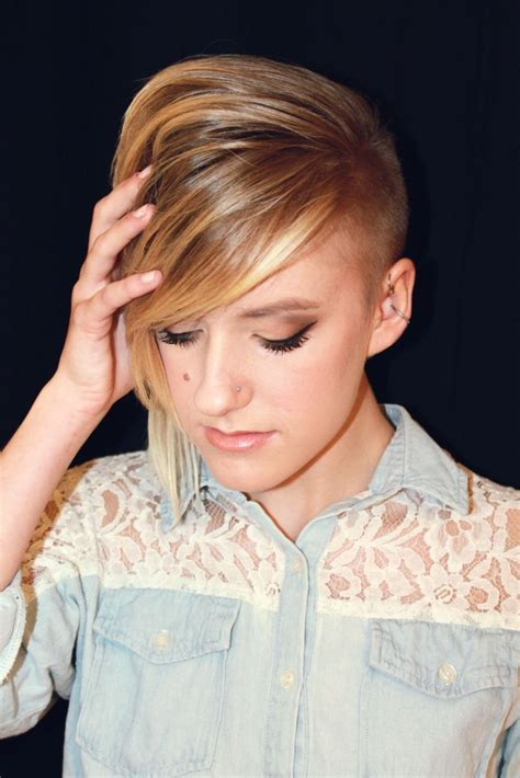 short hairstyles with shaved one side best side shaved hairstyle 2015