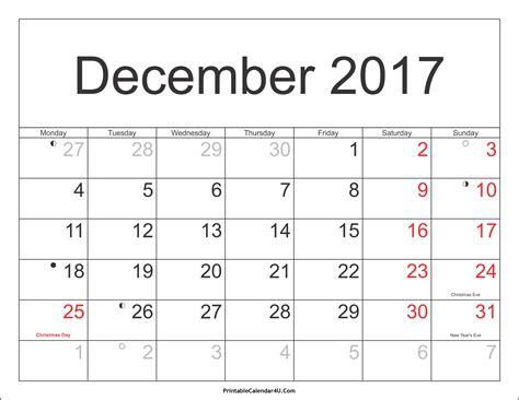 clipart 2017 calendar