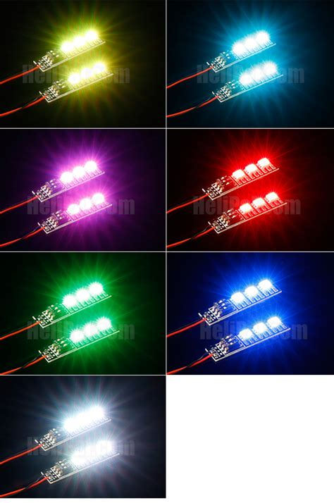 Storm Mini Led Light Strip Multi Color 12v Jst Helipal Small Led Light Strips