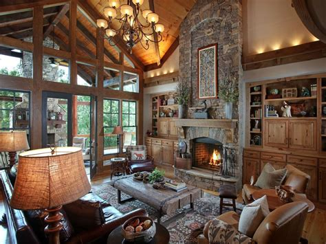 rustic great room rustic great room with built in bookshelf by joe folsom