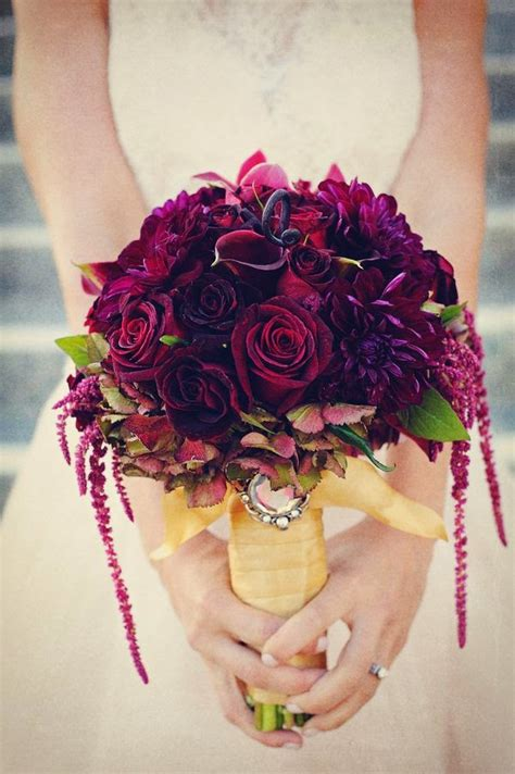 wine colored wine colored bridal bouquets bouquet wedding flower