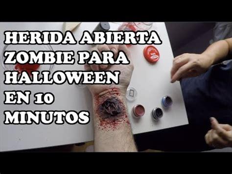 tutorial heridas zombie maquillaje halloween herida zombie diy