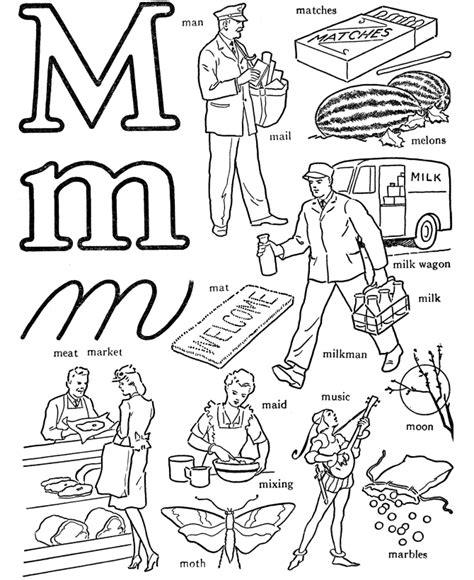 coloring pages that start with the letter m letter m coloring pages words coloring pages letter m1