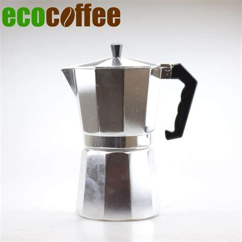 Moka Pot Alumunium 6 Cup Promo free shipping classic espresso coffee maker 1 3 6 9 12