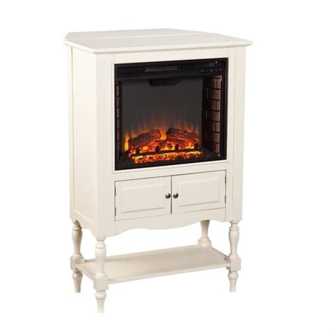 Antique White Fireplace by Southern Enterprises Providence Fireplace Tower In Antique
