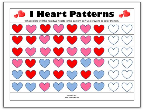 free printable preschool valentine worksheets 6 best images of valentine printables for kindergarten
