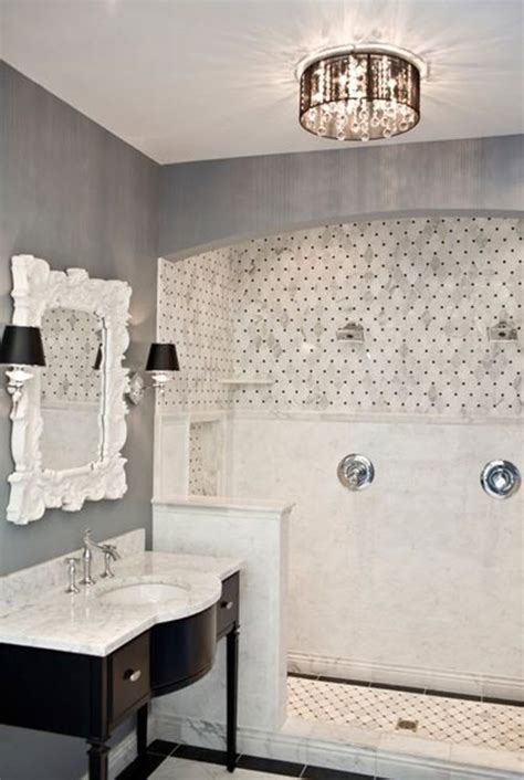 31 black and white marble bathroom tiles ideas and pictures