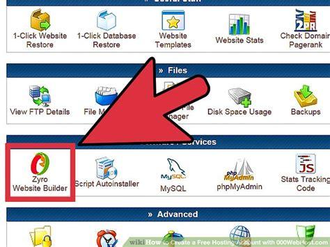 create   hosting account  webhostcom