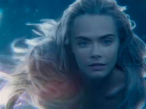 just one day film trailer first look at cara delevingne play mermaid in pan movie