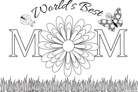 worlds  mom mothers day coloring pages printable