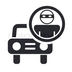 Auto Shop Plans vector illustration of single thief car icon stock