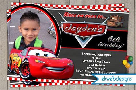 personalized disney cars birthday invitations disney cars birthday invitation lightening mcqueen