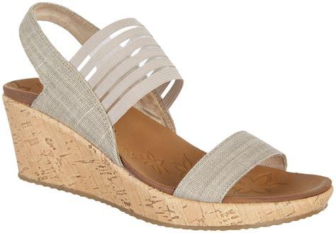 skechers wedge sandals skechers womens smitten kitten wedge sandals ebay