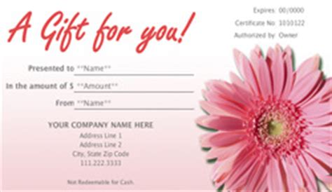 Landscape and Garden Store Gift Certificate Templates