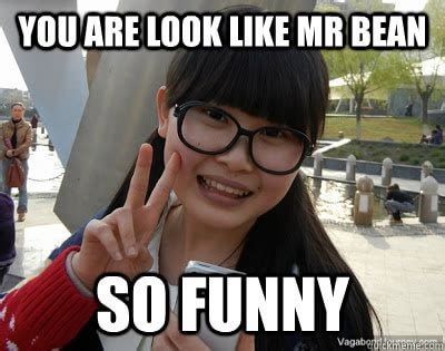 Rainy Chinese Girl Meme - mr bean meme dump to make you remember his one of the