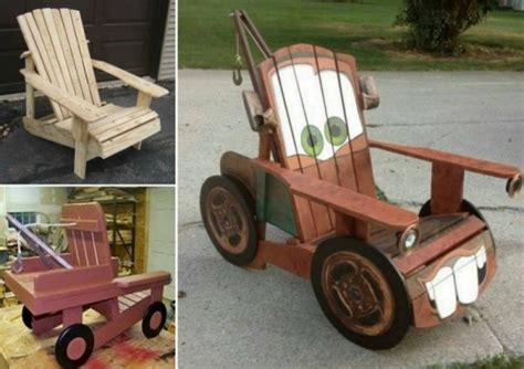 mater furniture diy tow mater truck chair