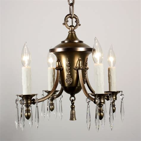 Vintage Chandeliers For Sale Fabulous Antique Four Light Chandelier With Bellflowers And Prisms C Early 1900 S Nc1164 Rw