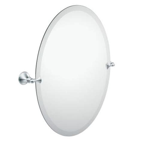 Pivoting Bathroom Mirror Moen Glenshire 26 In L X 22 In W Pivoting Wall Mirror In Chrome Dn2692ch The Home Depot