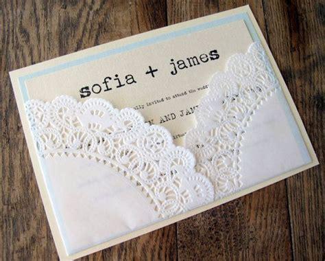 diy lace doily wedding invitations wedding invitation vintage lace doily pocket by bellapapel