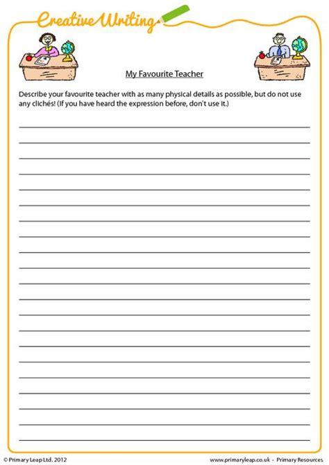 primaryleap co uk my favourite teacher worksheet