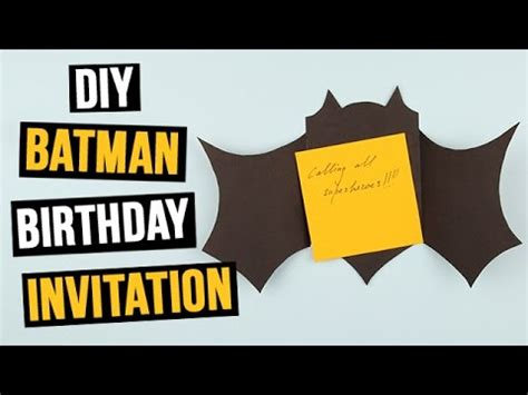 Batman Birthday Card Template by Diy Batman Birthday Invitation