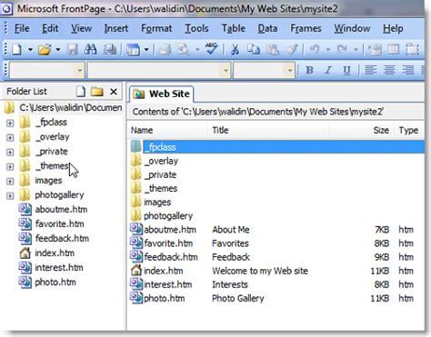 software untuk membuat website sendiri frontpage software paling mudah untuk membuat website bagi